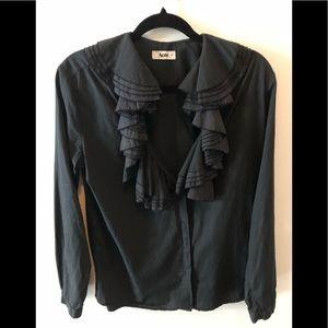 Acne Studio Black Cotton Top